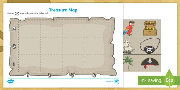 Free Pirate Treasure Map Template Teacher Made