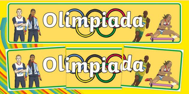Banner na gazetkę Olimpiada po polsku