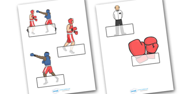 The Olympics Boxing Self-Registration - Boxing, Olympics, Olympic Games, sports, Olympic, London, 2012, Self registration, register, editable, labels, registration, child name label, printable labels, activity, Olympic torch, events, flag, countries,