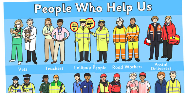 People Who Help Us Giant Display Poster - people who help us, people who help us poster, big people who help us poster, giant people who help us poster