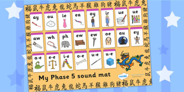 Chinese New Year Phase 5 Sound Mat - chinese, new year, phases