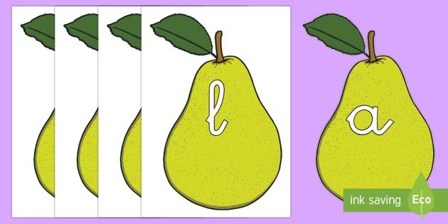 Tarjetas de fonemas: Peras - lecto, leer, primeros sonidos