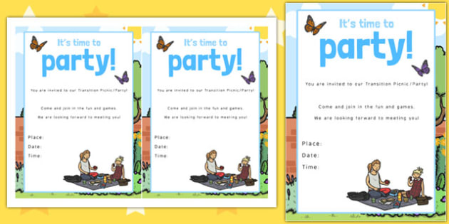 Garden Themed Picnic and Party Invitation - invitation, garden