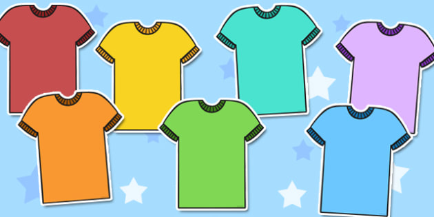 Blank Colourful T-Shirt Cut Outs - blank, colourful, t-shirt, cut outs