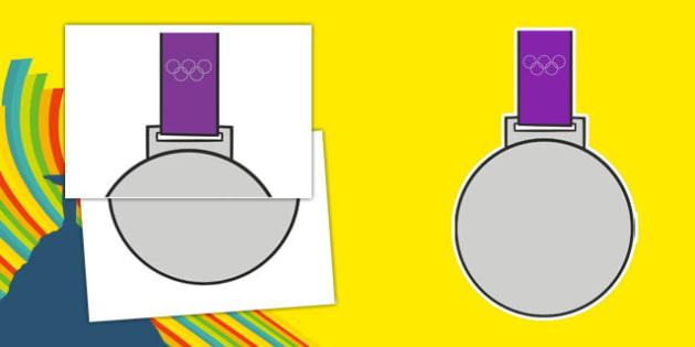 Olympic Display Silver Medal - usa, america, olympics, rio olympics, rio 2016, 2016 olympics, display, silver medal