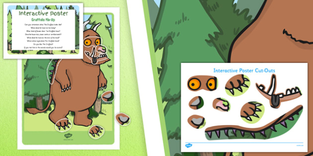 Gruffalo Mix Up to Support Teaching on The Gruffalo EYFS Interactive Poster and Prompt Card Pack - EYFS, Literacy, Julia Donaldson