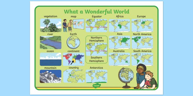 What a Wonderful World Word Mat - word mat, wonderful, world