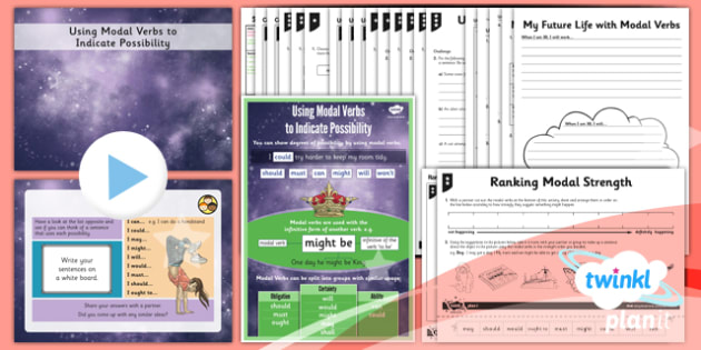 PlanIt Y5 SPaG Lesson Pack: Using Modal Verbs to Indicate Possibility - GPS, Modal, Infinitive, Auxiliary, Certainty, Obligation