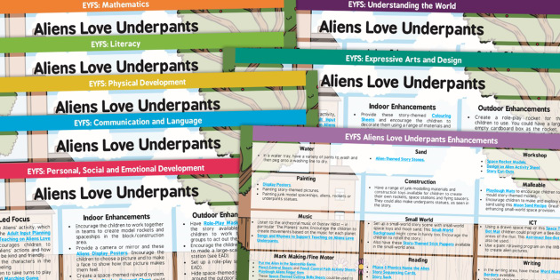EYFS Lesson Plan and Enhancement Ideas to Support Teaching on Aliens Love Underpants - planning, aliens love underpants, EYFS, lesson plan, lesson plan ideas, lesson ideas, lesson planning, teaching plan