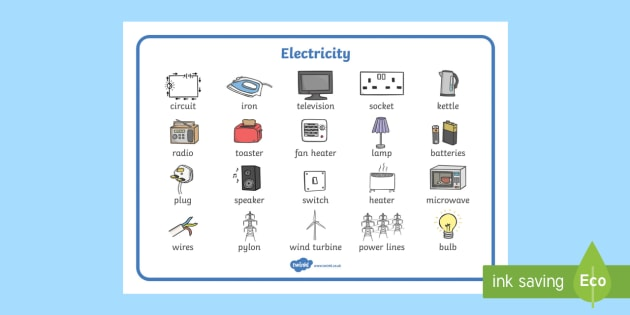 Electricity Word Mat - Electric, safety, safe, word mat, mat, writing aid, power, circuit, electricity, battery