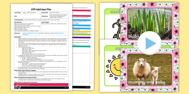 Hello Mr Sun EYFS Adult Input Plan and Resource Pack - EYFS, Early Years planning, adult led, spring, plants and growth, rhyme, song, C&L, Communication and Language