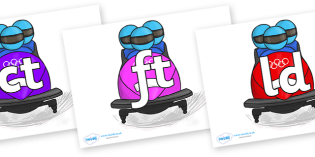 Final Letter Blends on Bobsleigh - Final Letters, final letter, letter blend, letter blends, consonant, consonants, digraph, trigraph, literacy, alphabet, letters, foundation stage literacy