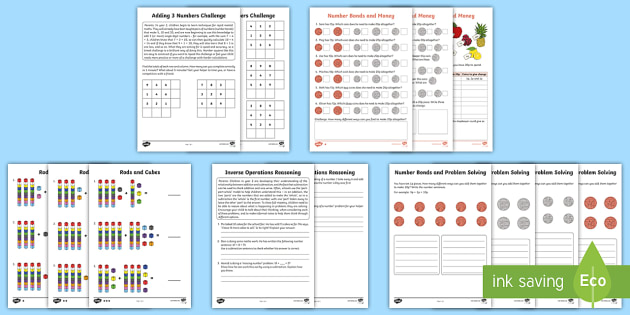 Year 2 Maths Calculation Homework Sheets Activity Pack