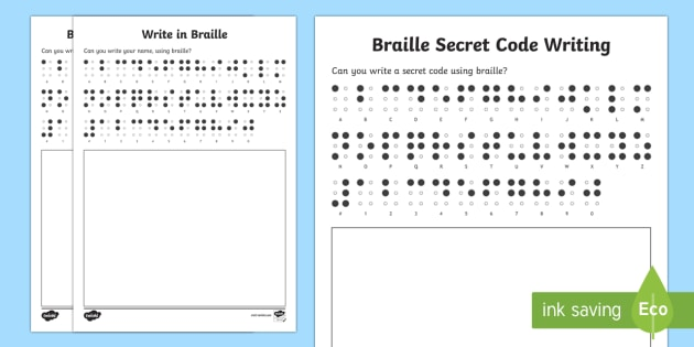 photo relating to Braille Alphabet Printable called Produce within Braille Worksheet / Worksheets - KS1/2 World-wide