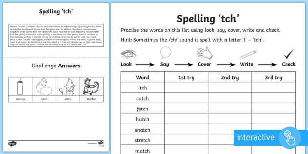year 1 spelling practice ch sound spelt 39 tch 39 activity sheet. Black Bedroom Furniture Sets. Home Design Ideas