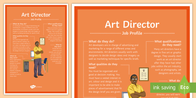 Art Director Job Profile A4 Display Poster Jobs Career
