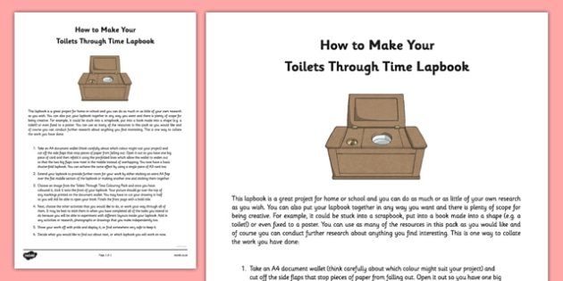 How to Make Your Toilets Through Time Lapbook - how to, make, toilets, through time, lapbook