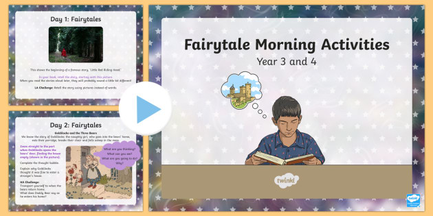 Year 3 And 4 Fairytale Writing Morning Activities Story Write