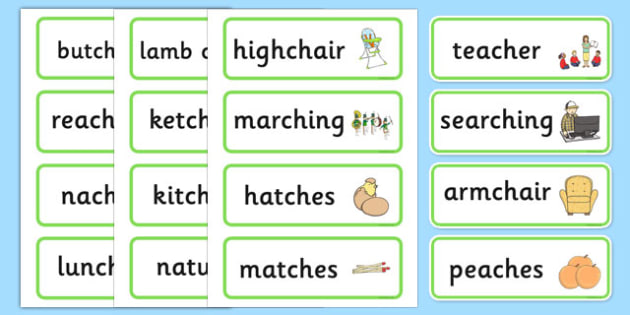 Medial ch Word Cards - speech sounds, phonology, articulation, speech therapy, dyspraxia