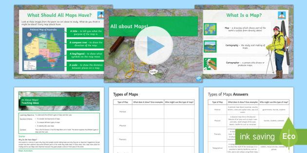 Map Skills All About Maps Lesson Pack Ks3 Maps Political Maps