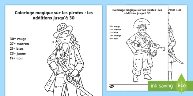 New coloriage magique sur le th me des pirates les - Coloriage magique cycle 2 ...