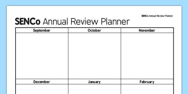 SENCo Annual Review Action Planner - senco, action planner, action, planner, plan, annual review