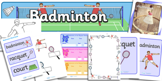 The Olympics Badminton Resource Pack - Badminton, Olympics, Olympic Games, sports, Olympic, London, 2012, resource pack, pack resources, activity, Olympic torch, events, flag, countries, medal, Olympic Rings, mascots, flame, compete