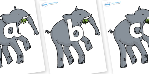 Phoneme Set on Trunky The Elephant to Support Teaching on The Enormous Crocodile - Phoneme set, phonemes, phoneme, Letters and Sounds, DfES, display, Phase 1, Phase 2, Phase 3, Phase 5, Foundation, Literacy