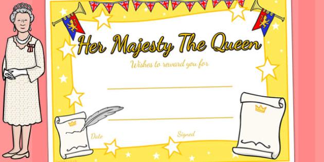 Queen's Birthday Certificates - awards, rewards, royal family