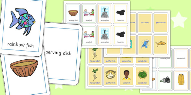 Three Syllable Final 'Sh' Sound Playing Cards - final sh, sound