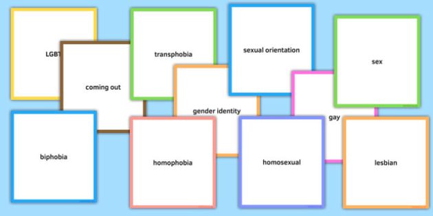 LGBT Word Cards for Discussion - lgbt, lesbian, gay, bisexual, transsexual, word cards, discussion
