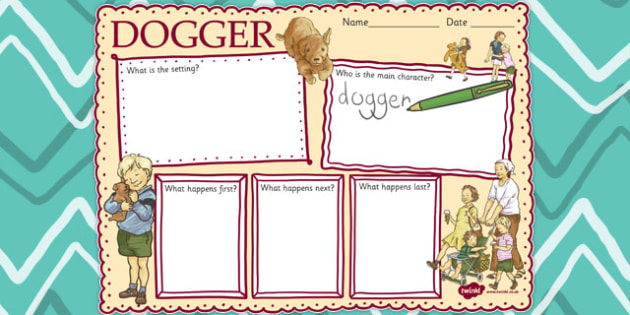Story Review Writing Frame to Support Teaching on Dogger - frames, borders, stories