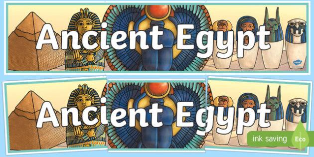 Ancient Egypt Display Banner - egypt, banner, display banner