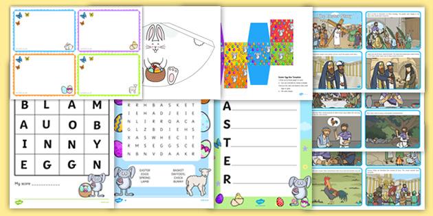 Easter Activities Ks2 Pack Teacher Made