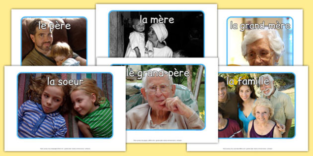 Ma famille Display Photos French - french, my family, family, display, photos, display photos, photographs
