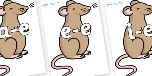 Modifying E Letters on Mouse - Modifying E, letters, modify, Phase 5, Phase five, alternative spellings for phonemes, DfES letters and Sounds