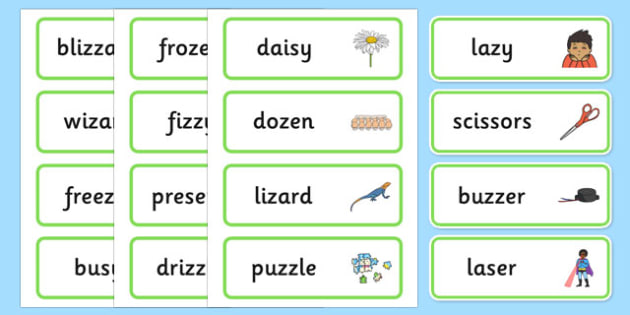 Medial 'z' Word Cards - speech sounds, phonology, articulation, ,speech therapy, dyspraxia