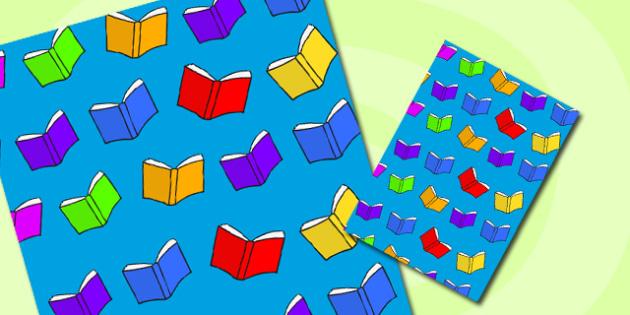Book Themed A4 Sheet - book, themed, a4, sheet, paper, books