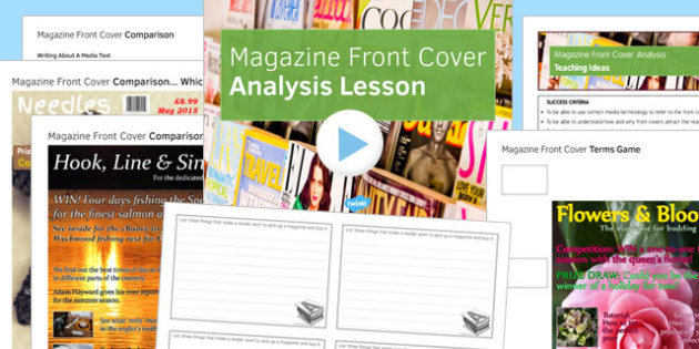 Magazine Front Cover Analysis Lesson Pack Lower Ability - magazine