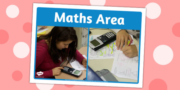 Maths Area Photo Sign - maths, area, photo, sign, area sign