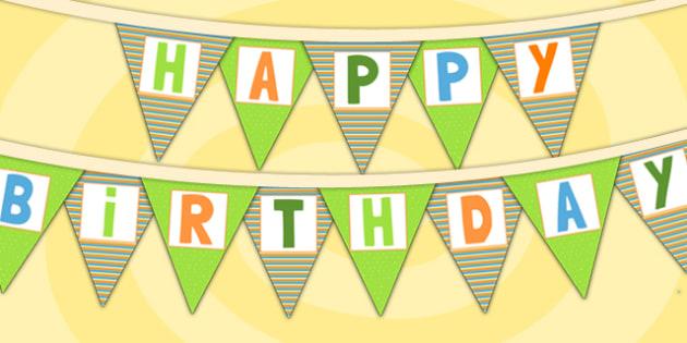 Jungle Themed Happy Birthday Bunting - jungle, parties, birthday