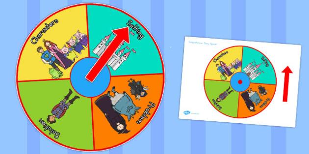 Comprehension Story Spinner - australia, comprehension, story, spinner