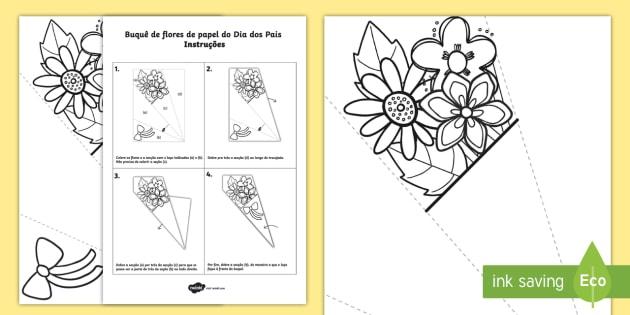 Dia Dos Pais Buque De Flores De Colorir Teacher Made