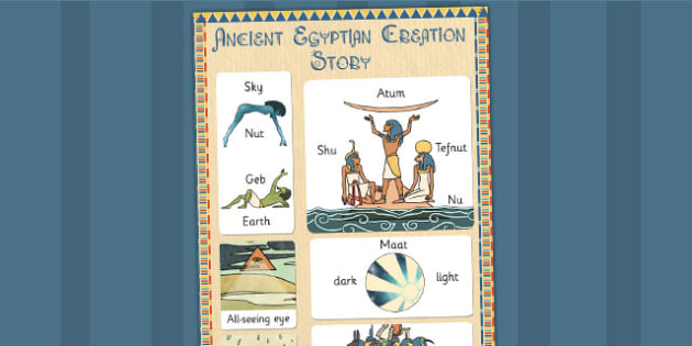 Ancient Egyptian Creation Story Vocabulary Mat - ancient egypt