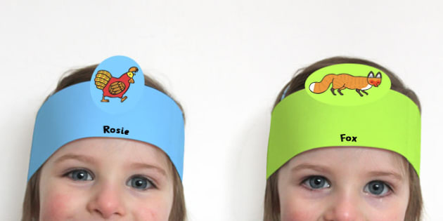 Role Play Headbands Rosie's Walk - roleplay, props, story books