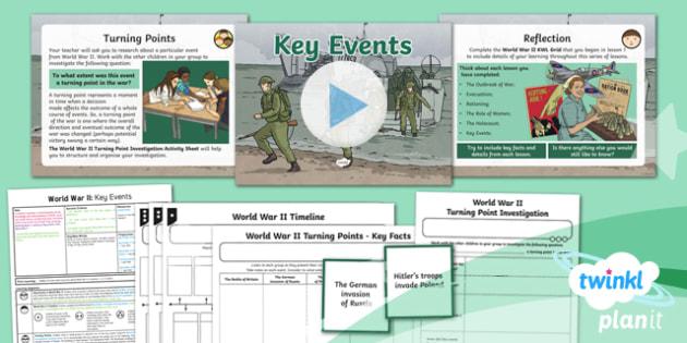 History: World War II: Key Events UKS2 Lesson Pack 6