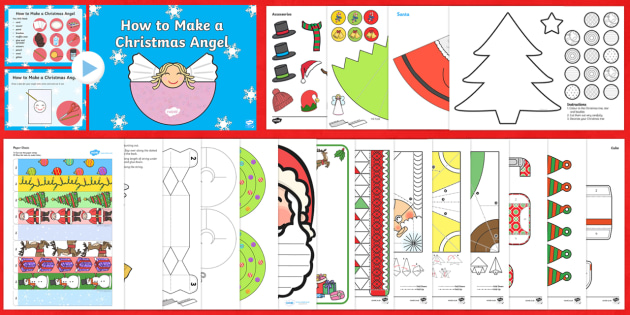 Christmas Craft and Activity Pack - christmas, craft, pack
