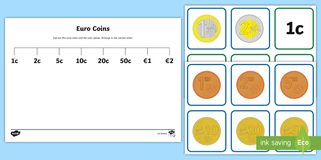 Second Class Coin and Coin Values Sorting Cards