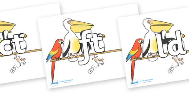 Final Letter Blends on Pets on a Perch to Support Teaching on The Great Pet Sale - Final Letters, final letter, letter blend, letter blends, consonant, consonants, digraph, trigraph, literacy, alphabet, letters, foundation stage literacy