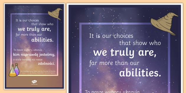 It Is Our Choices Motivational Poster Polish Translation - polish, motivation, display